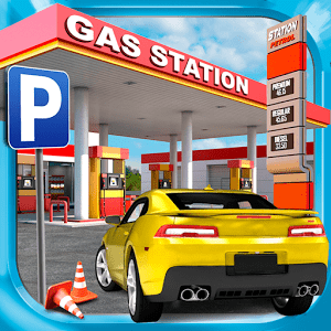 Gas Station Car Parking Game icon