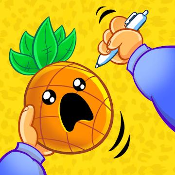 دانلود Pineapple Pen 1.31 بازی آناناس و خودکار اندروید