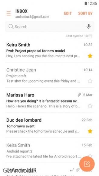 دانلود Samsung Email 5.0.05.12 برنامه مدیریت ایمیل سامسونگ اندروید
