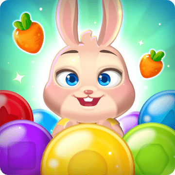 دانلود Bunny Pop 2: Beat the Wolf v1.2.2 بازی ترکاندن حباب ها 2 اندروید