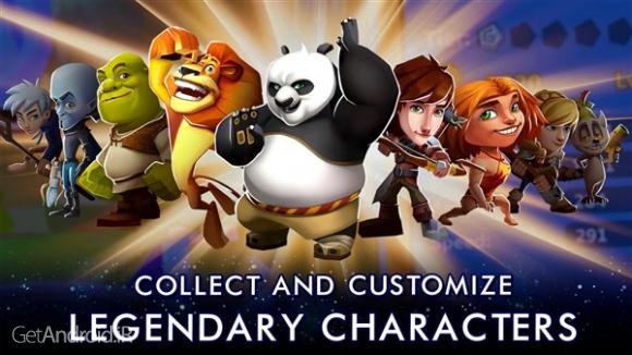 دانلود DreamWorks Universe of Legends 1.0.10 بازی جهان افسانه ها اندروید! 1