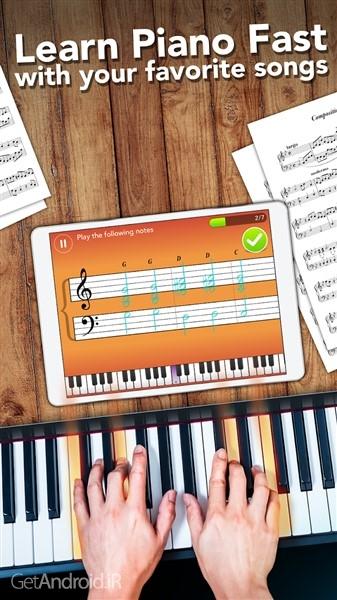 دانلود Simply Piano by JoyTunes v6.7.5 نرم افزار آموزش نت خوانی پیانو اندروید