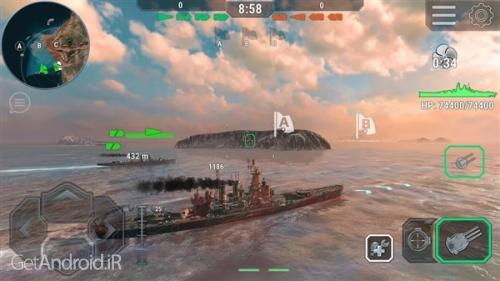 دانلود Warships Universe: Naval Battle v0.8.0 بازی کشتی جنگی دیتا دار برای اندروید ! 1