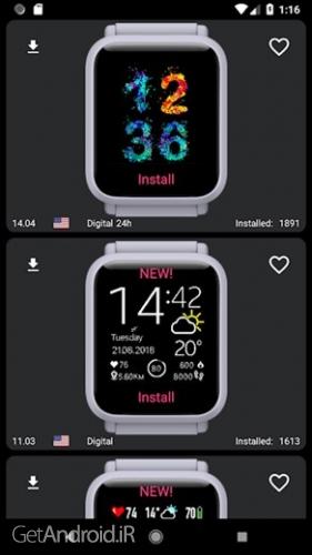 دانلود My WatchFace for Amazfit Bip v2.16.3 برنامه ساعت هوشمند اندروید ! 1
