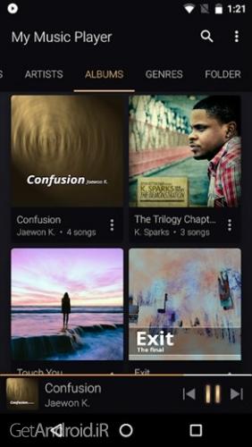 دانلود My Music Player v1.0.3 بهترین برنامه پخش کننده موسیقی اندروید ! 1