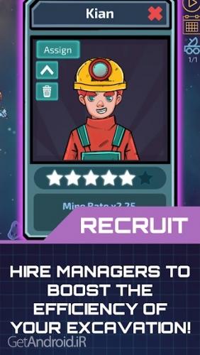 دانلود Idle Planet Miner 1.0.10 بازی معدنچی سیاره اندروید ! 1