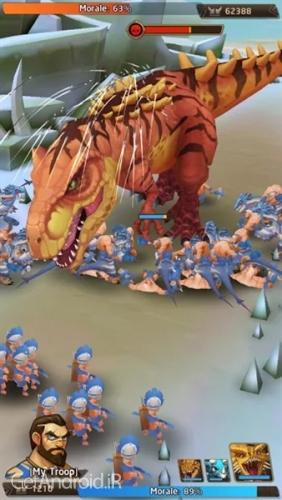 دانلود Primal Wars: Dino Age 0.191.6 بازی عصر دایناسور ها اندروید ! 1