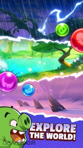 دانلود Angry Birds POP 2: Bubble Shooter v1.2.0 بازی انگری بردز جدید برای اندروید! 1