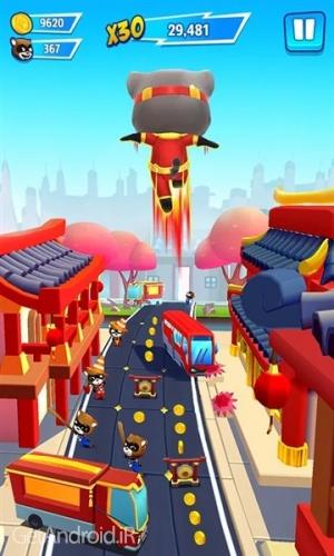 دانلود Talking Tom Hero Dash 1.0.16.517 بازی تاکینگ تام هیرو دش اندروید ! 1