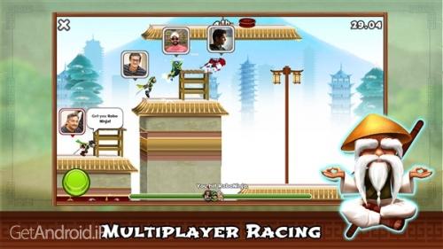 دانلود Ninja Race - Fun Run Multiplayer v1.05 بازی مسابقه نینجا اندروید ! 1